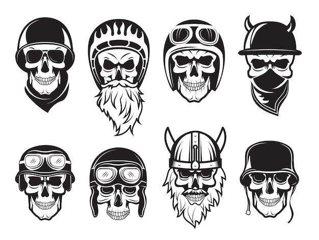 Череп бандана шлем.