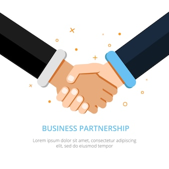 Рукопожатие бизнесмена