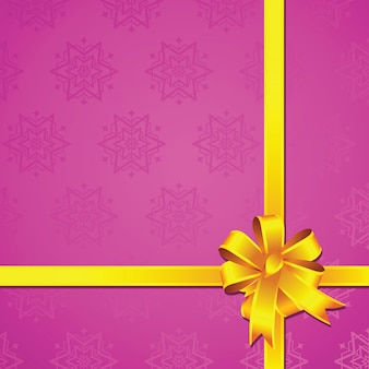 Подарочная упаковка из блестящей атласной ленты