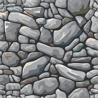 灰色の石造りの壁の背景