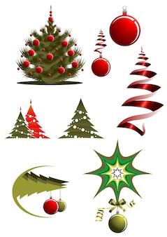 クリスマスのアイコンとシンボル
