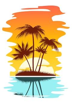 Тропический абстрактный фон
