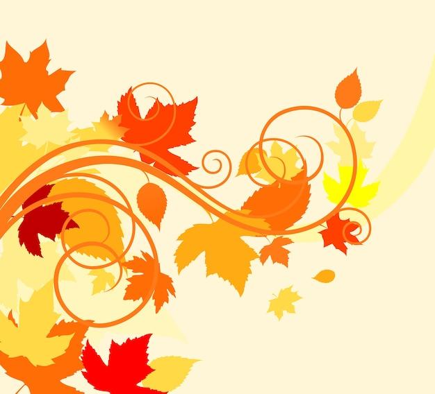 Фон из осенних листьев