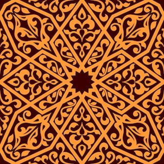 アラビアのシームレスなタイルパターン
