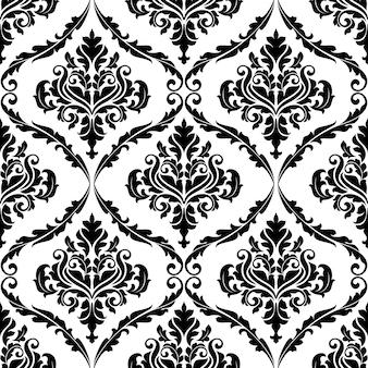 華やかな花唐草装飾的なシームレスパターン