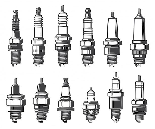 Типы автомобильных свечей зажигания, значки