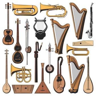 Музыкальные инструменты, иконы