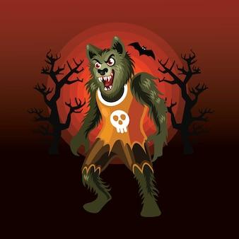 ハロウィン狼キャラクター