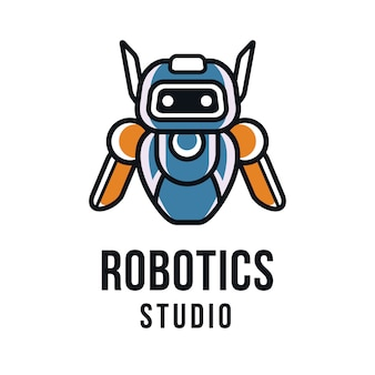 Шаблон логотипа студии робототехники