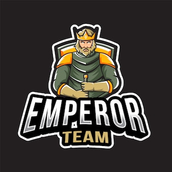 Шаблон логотипа команды императора