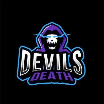 Шаблон логотипа дьявола смерти эспорта