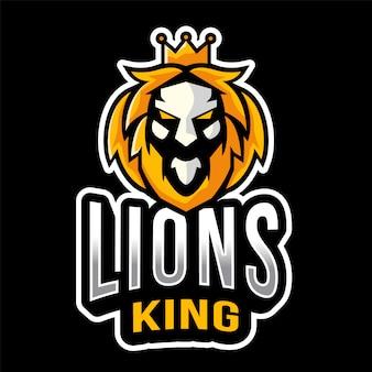 Шаблон логотипа короля львов