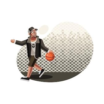 ストリートバスケットボール選手