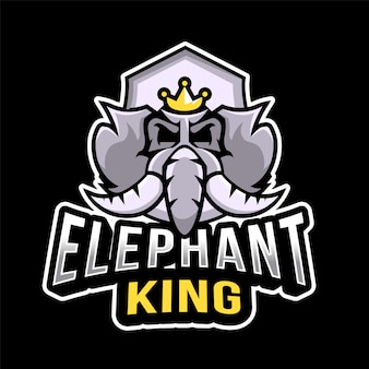 Шаблон логотипа короля слонов эспорта
