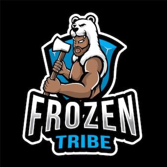 冷凍部族エスポートのロゴのテンプレート