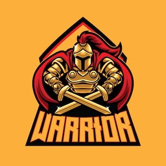 Шаблон логотипа воин эспорт
