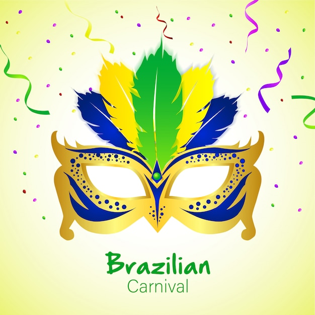 Бразильский карнавал с маской