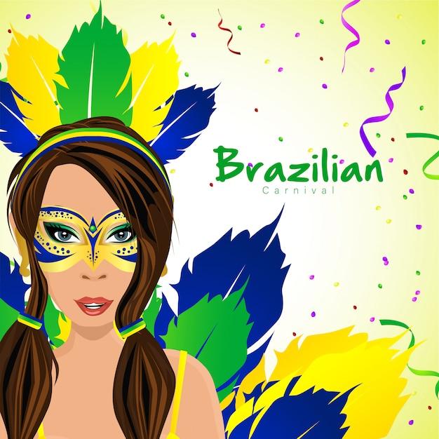 Бразильский карнавал с женскими персонажами
