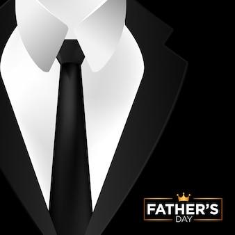С днем отца в черном костюме фоне