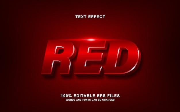 Эффект красного глянцевого текста