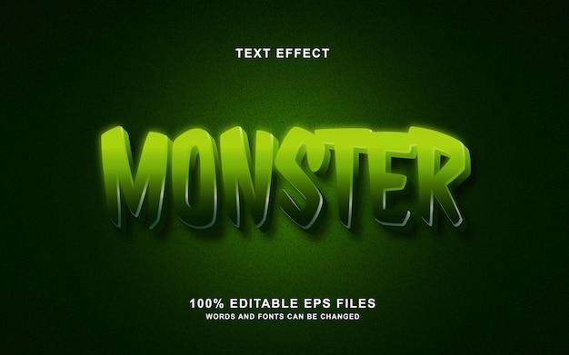Эффект стиля текста монстра
