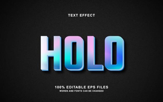 Голографический текстовый эффект
