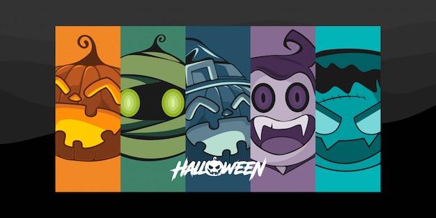 Иллюстрация символов хэллоуина