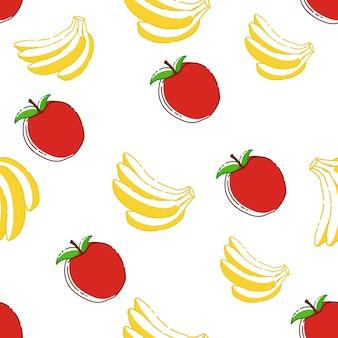 リンゴとバナナのパターン