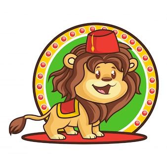 かわいい幸せなライオン漫画
