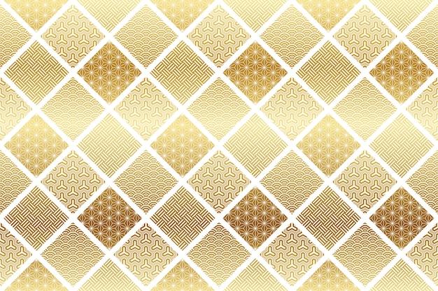 日本の伝統的なシームレスパターン。水平および垂直に繰り返し可能。