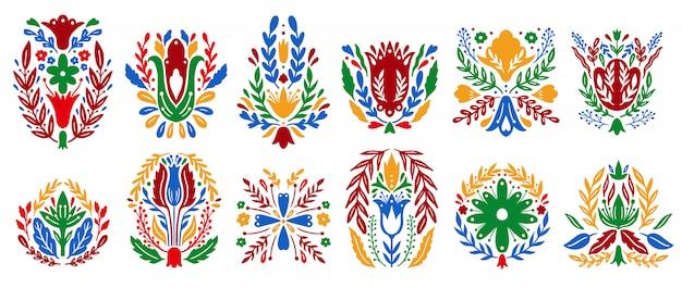 Традиционный народный орнамент набор элементов.