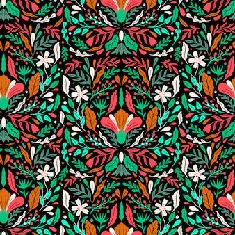 シームレスパターンの花。