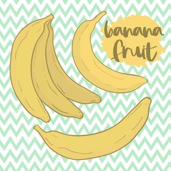 漫画黄色バナナのベクトルを設定します。