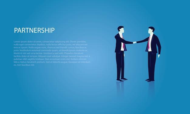 ビジネスディールアフィリエイトパートナーシップコンセプト