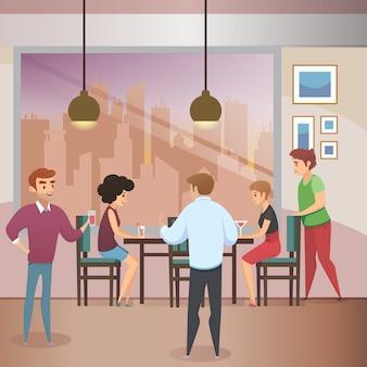 ホームパーティーのお祝いフラットベクトルの概念
