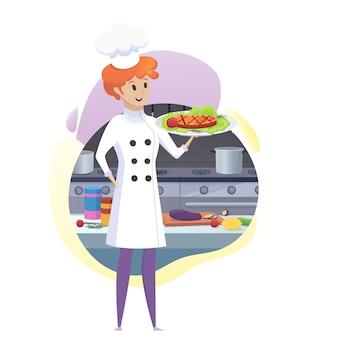 Кулинарная концепция иллюстрация ресторанный бизнес