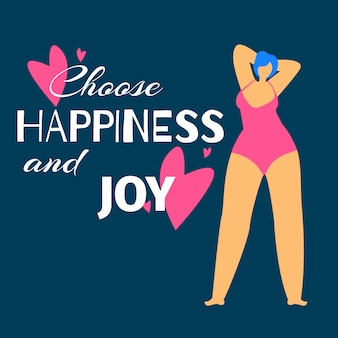 水着で太りすぎの女性は彼女自身を賞賛します。