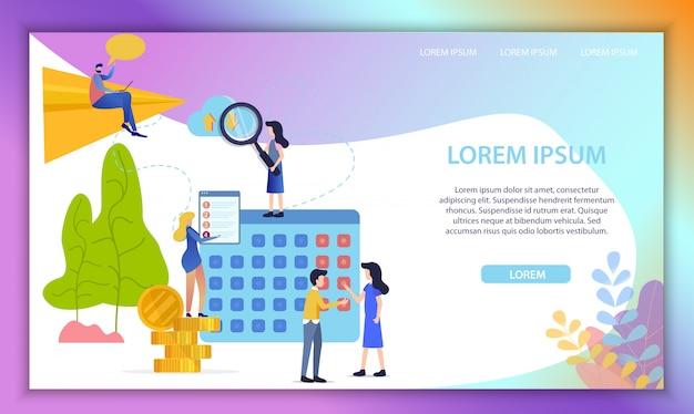 Растущая карьера в бизнес плоский вектор веб-сайт