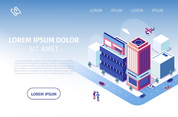 不動産投資プロジェクトのベクトルのウェブサイト