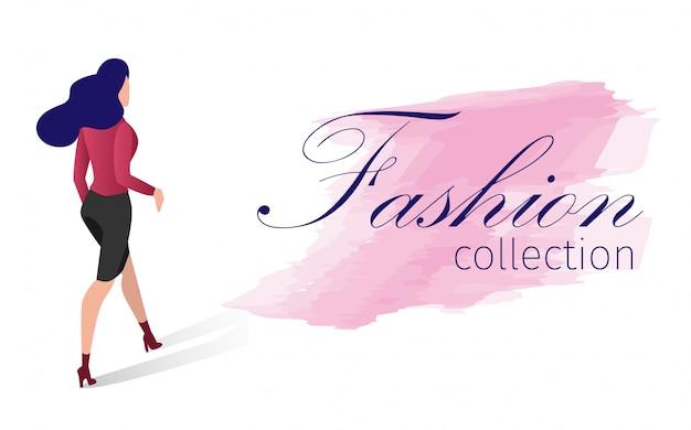 ファッションコレクションベクトルイラスト漫画。