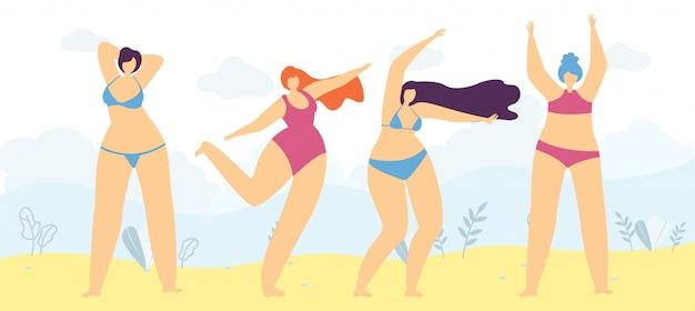 Позитивная свобода тела любовь женщина мотивировать баннер