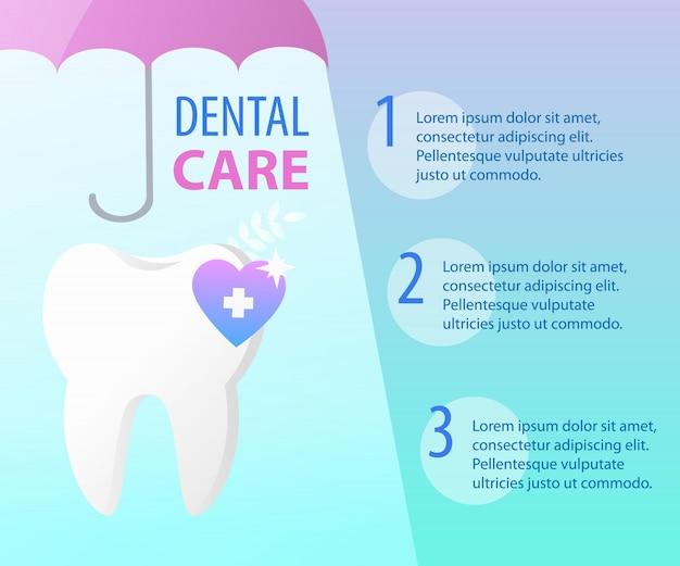 歯科治療歯健康傘保護バナーテンプレート