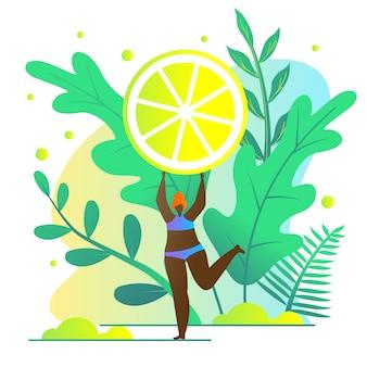 Девушка любит есть лимоны