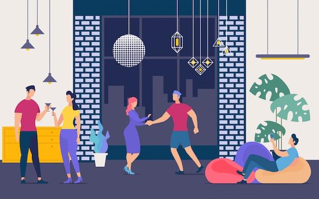 Ночная вечеринка, ночная жизнь и концепция выходного дня
