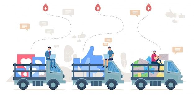 ソーシャルネットワーク研究におけるクライアントのフィードバック