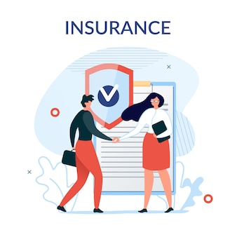保険サービスのプレゼンテーションの背景