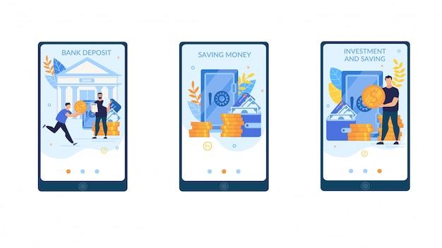 広告バナー銀行預金レタリングを設定します。