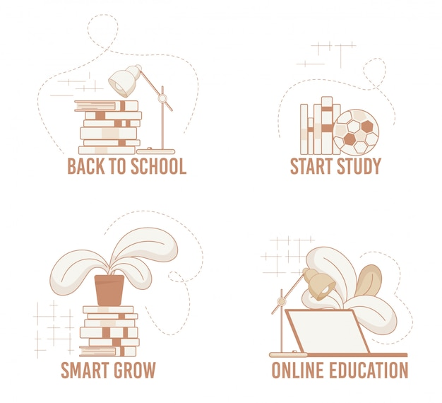 有益なバナーは、研究のための簡単な科目を設定します。