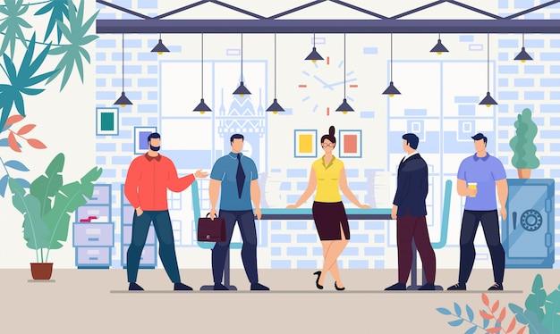 オフィスベクトル概念で働く実業家