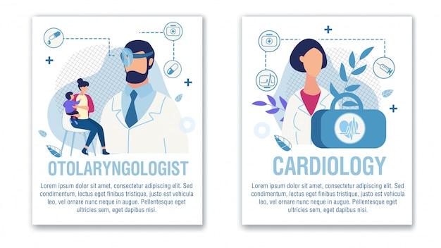 Баннер набор предложение отоларинголог кардиолог помощь
